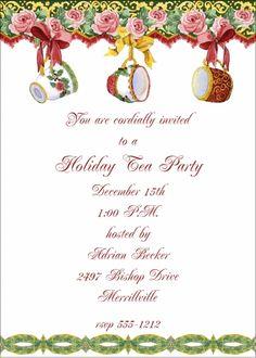 christmas tea invitation