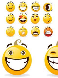 Set of smileys. Vector illustration. Human Icons. $9.00