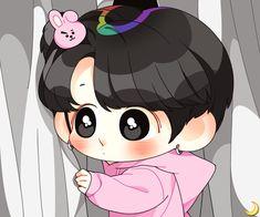 Twitter Jungkook Fanart, Jungkook Cute, Bts Chibi, Anime Chibi, K Pop, Cartoon Fan, Bts Drawings, Cute Cartoon Wallpapers, Bts Fans