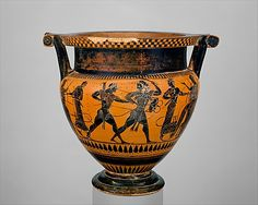 Terracotta column-krater (bowl for mixing wine and water) Attributed to the…