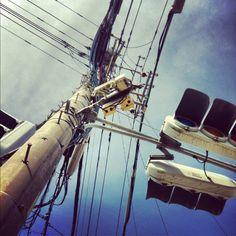 電線 Transmission Line, Electrical Wiring, Utility Pole, Aesthetics, Wire, Style, Swag, Outfits, Cable