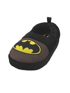 0dd8af80e42c Batman Superhero Boys Aline Slippers Little Kid Toddler Child DC Comics Bat  Signal