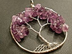 Amethyst Tree of Life Pendant by OddsAndEndsByKaley on Etsy $20