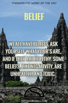 Everyone has beliefs. Beliefs of themselves and of the world. Some of these beliefs are negative and toxic. Challenge unhealthy beliefs, or be held back by them.  #belief #life #future nathandriskell.com