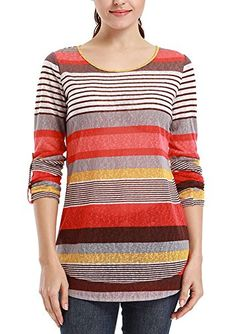 VESSOS Women's Casual Scoop Neck Loose Fitting Colorful Stripe Top Blouse T-shirt L   Special Offer: $15.99      255 Reviews VESSOS has blessed fashion trend finders and high quality product providers We provide our customers with high quality products at competitively low...