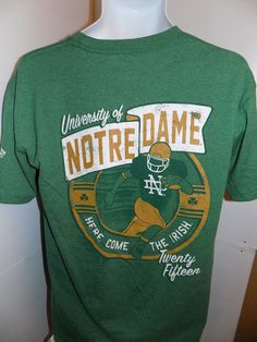 Notre Dame Irish Football NWT T Shirt Size Medium Green #NCAA #GraphicTee