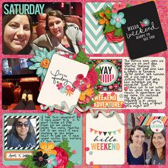 Layout made for the SSD April Bingo Challenge #7 - tuck it in: create a pocket style scrapbook page  Ready for the Weekend Bundle by Kristin Cronin-Barrow & Tickled Pink Studio http://www.sweetshoppedesigns.com/sweetshoppe/product.php?productid=28320&cat=&page=1 Afternoon at the beach 2 by Miss Mel Designs