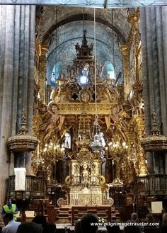 High altar, with the effigy of St. James, in the cathedral of Santiago de Compostela.
