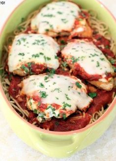 Baked Chicken Parmesan with Ricotta and Spinach