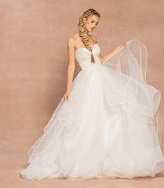Strapless Sweetheart Neckline Ball Gown Tulle Wedding Dress   Kleinfeld Bridal Tulle Ball Gown, Ball Gowns, Bridal Gowns, Wedding Gowns, Hayley Paige Bridal, Strapless Sweetheart Neckline, Tulle Wedding, Dream Wedding, Whimsical Wedding