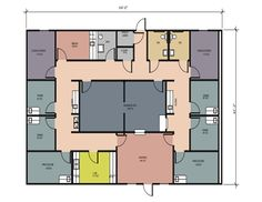 2 Physician Medical Construction Floor Plans