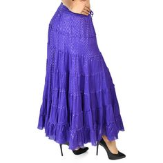 Purple Skirt, Lurex Skirt, belly dancing Skirt, 7 tiered Skirt,... (€19) ❤ liked on Polyvore featuring skirts, summer skirts, plus size long skirts, plus size blue skirt, plus size purple skirt and long purple skirt