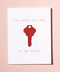DIY Valentines Day Cards - You Hold The Key To My Heart - Easy Handmade Cards for Him and Her, Kids, Freinds and Teens - Funny, Romantic, Printable Ideas for Making A Unique Homemade Valentine Card - Step by Step Tutorials and Instructions for Making Cute Homemade Valentines Day Cards, Cute Valentines Day Gifts, Valentine Day Love, Valentine Crafts, Valentine Day Cards, Homemade Cards, Kids Valentines, Valentine Ideas, Printable Valentine
