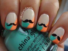 Moustache Migi Nail Art