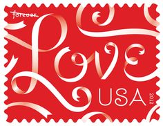 Ribbon Love Stamp