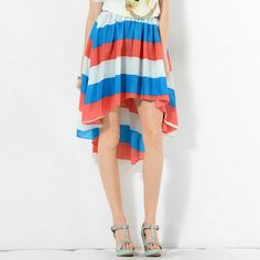 Buy 'YesStyle Z – Color-Block Dip-Back A-Line Skirt' with Free International Shipping at YesStyle.com. Browse and shop for thousands of Asian fashion items from Hong Kong and more!