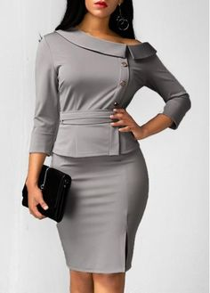 Discount Designer Clothes For Women Classy Outfits, Chic Outfits, Fashion Outfits, Womens Fashion, Cheap Fashion, Work Outfits, African Fashion Dresses, African Dress, Sexy Dresses