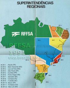 Superintendências Regionais da RFFSA em 1991