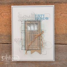 Stampin' Dolce: A card inspired by Architecture - In This World, Birthday Cards, Happy Birthday, Beautiful Handmade Cards, Event Calendar, Masculine Cards, Architectural Elements, Creative Cards, Stampin Up Cards