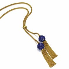 Gold and Lapis Lazuli Bead Longchain, late 19th century | lot | Sotheby's