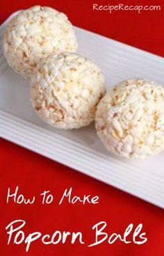 How To Make Popcorn Balls Recipe | RecipeRecap.com