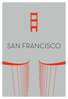 Minimalist California Love- Golden Gate Bridge by Ryan M. Russell