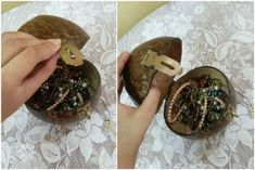 DIY Coconut Shell Jewelry Box