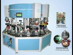 Christmas ball five color printing production line Machine Screen Printing Machine, Screen Printer, Production Line, Label Machine, Christmas Balls, Science And Technology, How To Find Out, Prints, Color