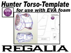 'Regalia' Template for EVA foam .pdf file and .