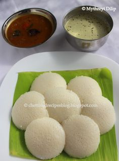 Chettinad Idli( Soft and Fluffy Rice Cakes) http://chettinadrecipesblog.blogspot.com.au/2013/07/idli-recipe-malligai-poo-idly.html