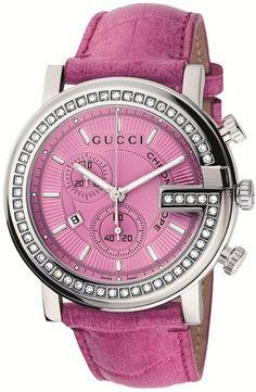 Gucci G-Chrono Pink Crocodile Strap Watch