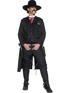 Transform into the infamous character from the movie Tombstone with this deluxe western sheriff costume. This western sheriff costume is a great cowboy costume for Halloween. Costumes Sexy Halloween, Girl Costumes, Adult Costumes, Cowgirl Costume, Cowboy Costume For Men, Costume Shop, Costume Dress, Costumes Western, Kids Fashion