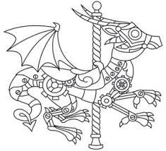 steam punk carousel coloring pages - Google Search