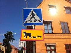 A street sign from Uppsala