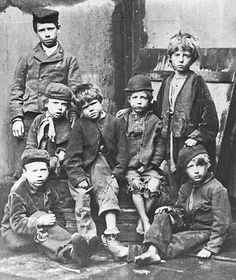 Child labourers during the British Industrial revolution.