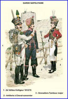 Garde Napolitaine- Différents uniformes -