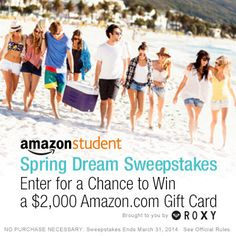 Win a $2,000 Amazon GiftCard - enter to win, good luck!