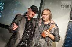 Jan Akkerman and Walter Trout Trout, Dark, Fictional Characters, Stone, Brown Trout, Fantasy Characters