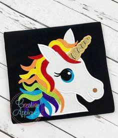 Rainbow Unicorn Applique