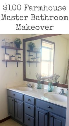 This master bathroom is incredible! So many great ideas... and for only $100!!!