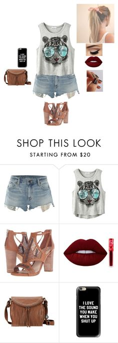 """Untitled #601"" by moonyshoes ❤ liked on Polyvore featuring Denim & Supply by Ralph Lauren, Vince Camuto, Lime Crime, The Sak and Casetify"