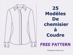 Made in france: Couture Femme Patron Vintage, Shirt Tutorial, Sewing Stitches, Couture Sewing, Couture Tops, Dress Sewing Patterns, Couture Fashion, Ski Fashion, Sewing Clothes