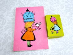 Retro Playing Cards Deck in Chartreuse and by SwirlingOrange11