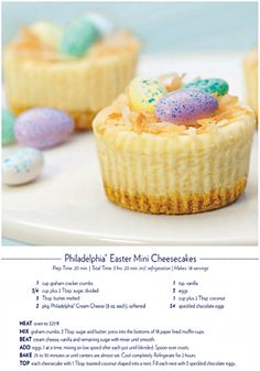 These Mini Easter Cheesecakes are so cute and fun and easy to make!