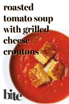If Andy Warhol had tasted our deeply flavored roasted tomato soup, we're confident he would have chosen it over the bland canned variety. We can picture the canvas...bowl after bowl of velvety, steaming tomato puree topped with crispy mini grilled-cheese croutons...a comfort-food masterpiece that'll be remembered long past 15 minutes.