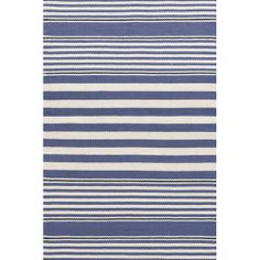 We can't get enough of indoor/outdoor rugs, and this blue beauty is a winner.   $319