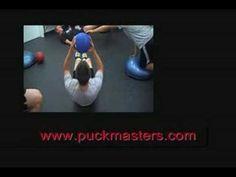 Hockey Dryland: Sit Ups Leg Extension With Medicine Ball