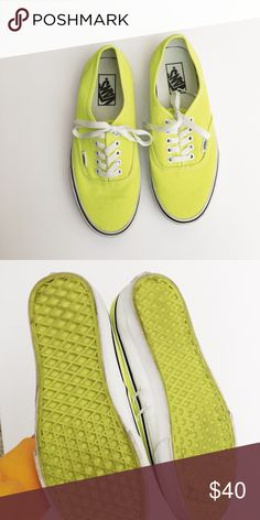 Vans size 8 Bright yellow. Gently used condition. Shoes Sneakers