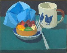 Hen Cup with Tart, 2000 Oil on Panel 8 x 10 inches Ken Kewley Still Life Artists, Paintings I Love, Painting Styles, Painting Workshop, Fashion Painting, One Color, Art Images, Contemporary Art, Shapes