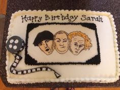 The Three Stooges cake- painted image onto fondant